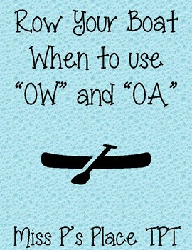 Row Your Boat OA vs. OW
