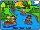 Grammar (Nouns, Verbs, Adj), Math, Writing ~ Row Your Boat Scene Card
