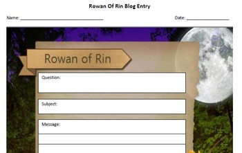 Rowan of Rin Blog Template