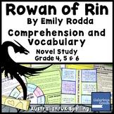Rowan of Rin Comprehension and Vocabulary - Novel Study