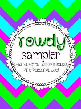 Rowdy Fonts Sampler