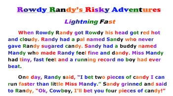 Rowdy Randy's Risky Adventure-Lightning Fast-Reading Passage Package