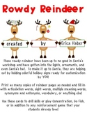 Rowdy Reindeer: A Make-Your-Own Game- Speech, Language, Vocab, Sightwords, &more