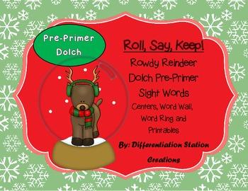 Sight Words Pre-Primer, Winter Printables & Games