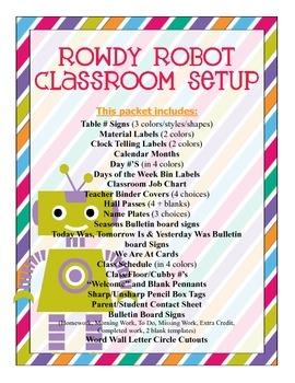 Robots Classroom Setup