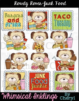 Rowdy Rover Junk Food Clipart Collection