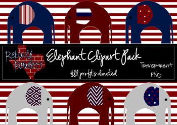 Rowlett Elephant Clipart - PROFITS DONATED!