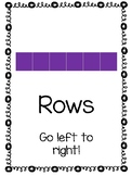 Rows & Columns Posters