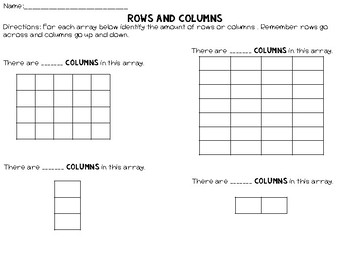 Rows and Columns || An Introduction to Arrays
