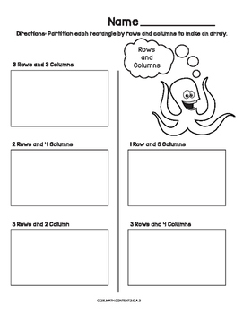 Rows and Columns Common Core Worksheet