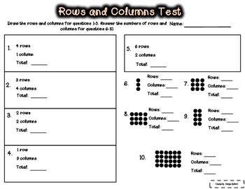 Rows and Columns Unit