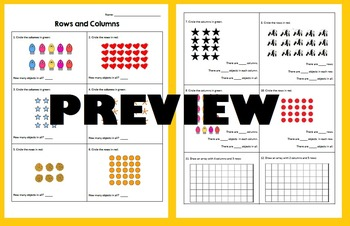 Rows and Columns - Using Arrays and Equal Groups of Objects for Multiplication
