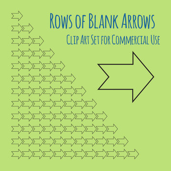 Rows of Blank Arrows Templates / Graphic Organisers 1-12 Clip Art Commercial Use