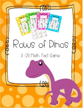 Rows of Dinos - 0-20 Math Fact Game