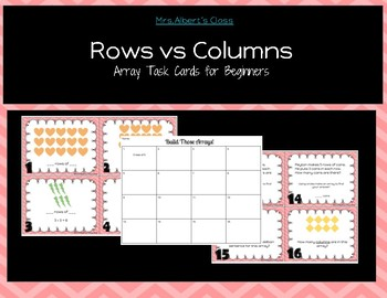 Rows vs Columns : Arrays for beginners : Task Cards