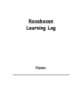 Roxaboxen Learning Log