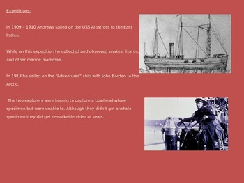 Roy Chapman Andrews - Power Point - Life history facts - 10 slides