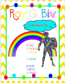 Roy G. Biv Cheat Sheet *FREEBIE*