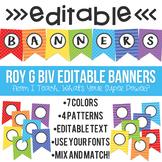 Editable Banners Roy G Biv