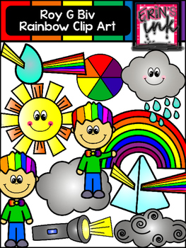 Roy G Biv Rainbow Clipart