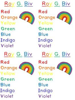 Roy G. Biv Rainbow Craftivity {FREEBIE}