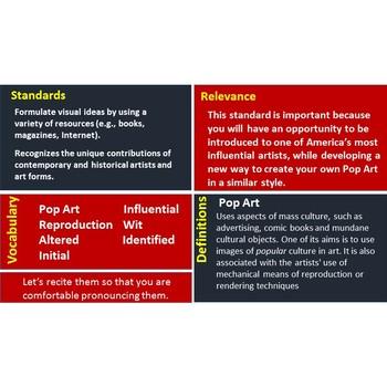 Roy Lichtenstein - Digital Task Cards