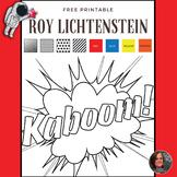Roy Lichtenstein Free Printable