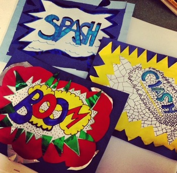 Roy Lichtenstein Inspired Pop Art