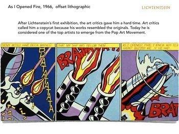 Roy Lichtenstein Pop Art SHOW + TEST = 231 Slides - PopArt Comics