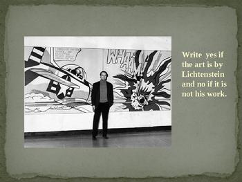 Roy Lichtenstein Power Point Assessment