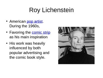Roy Lichtenstein Powerpoint and Portrait Project