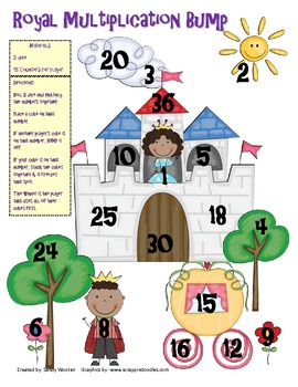 Royal Addition, Subtraction, and Multiplication Bump Games (1.OA.6, 2.OA.2)