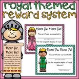 Royal Behavior Punch Cards & Certificates + Ink Saving Option