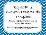 Royal Blue Chevron Task Card/Scoot Card Templates