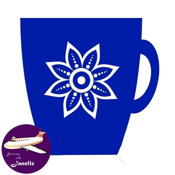 Royal Blue Clip Art Decoration Scrapbooking Elements - 60 items