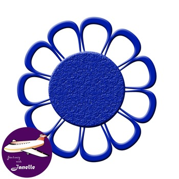 Royal Blue Clip Art Decoration Scrapbooking Elements - 60 items