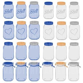 Royal Blue Jars Clipart & Vectors - Ball Jar Clipart