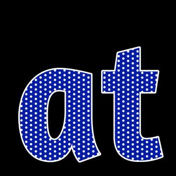 Royal Blue Polka Dot Alphabet Clip Art + Numerals, Punctuation and Math Symbols