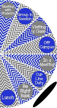 Royal Blue and Gray - Where is the counselor? sign - variation #3