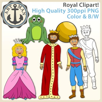 Royal Clipart {Anchor Art Man}
