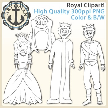 Royal Clipart {Anchor Art Man}