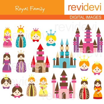 Royal Family Clip art - King, Queen - clipart