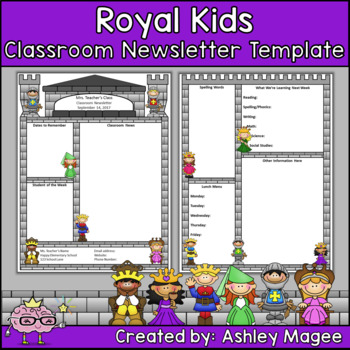 Royal Kids Editable Classroom Newsletter Template By Mrs Magee | Tpt