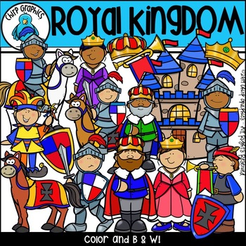Royal Kingdom Clip Art Set - Chirp Graphics