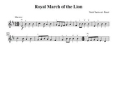 Royal March of the Lion for Violin