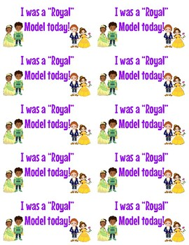 Disney Royal Model Recognition Stickers