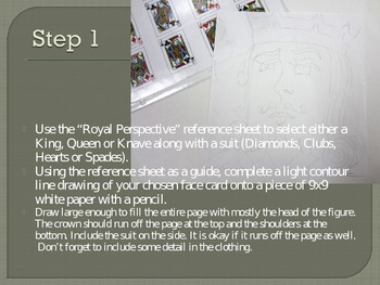 Royal Perspective: One Point Perspective Project using Playing Cards