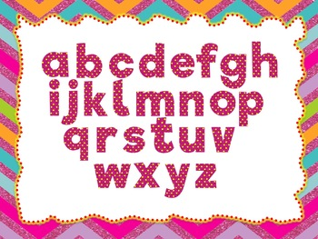 Royal Pink Glitters: 100 Alphabet, Numbers and Symbols clip arts(Digital Images)