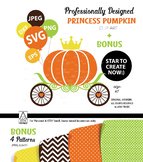 Royal Pumpkin SVG, Clip Art, vector file. Create your own style, product