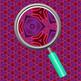 Royal Purple Kalidoscope Backgrounds / Digital Papers Clip Art Set
